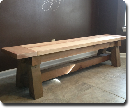 Cedar Truss Bench - unstained